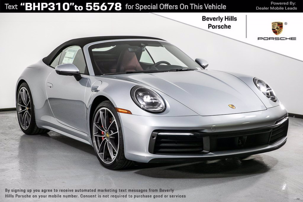 New 2020 Porsche 911 Carrera 4s Cabriolet 992 Convertible In Los Angeles P14739 Beverly Hills Porsche