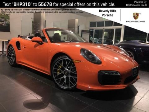 Pre-Owned 2016 Porsche 911 Turbo S Cabriolet