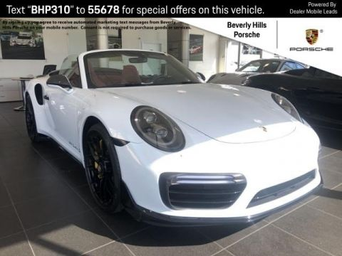 Certified Pre-Owned 2018 Porsche 911 Turbo S Cabriolet